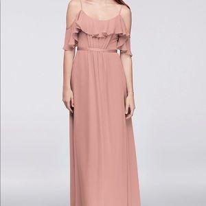 David's Bridal - Cold Shoulder Bridesmaid Dress